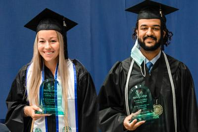 Comley, Lacey named 2021 Outstanding Graduates