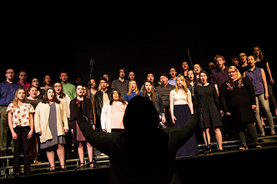 SC College's Concert Choir performs during a Wednesday chapel - Sterling College