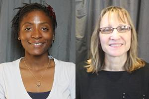 Carol Ludwick and Adedrea Smart '12 were recently hired.