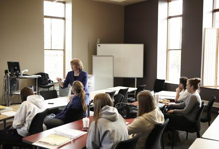 Education students participate in a class on campus prior to AACK Interview Day.