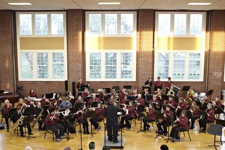 The Sterling Community Band will perform April 24 at 7:30 p.m. in Upper Wilson.