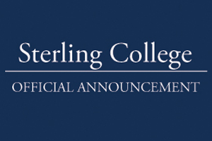Sterling College Official Announcement