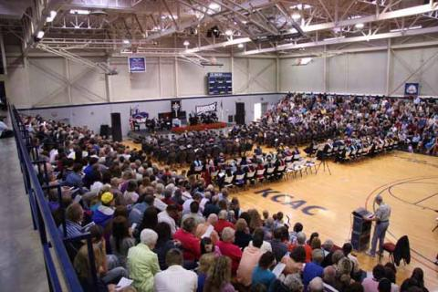Commencement 2010 in Gleason Center
